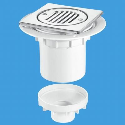 Wet Room Gully Trap Bottom Outlet for Tiles or Stone Floors